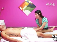 Asian masseuse Ka Lee is up to have some dirty fun with her client