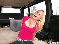 Tight ass blonde Kendra McKenzi has fun in bang bus