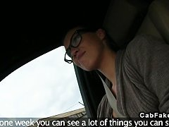 Fake taxi driver with huge cock fucks babe outdoor