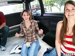 Abby and Nickey get on the bangbus