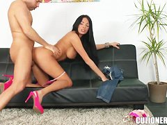 Anissa Kate sucks and rides it hard